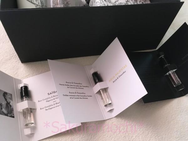 クヴォンデミニムの2020年福袋中身-ミニ香水3個